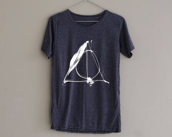 Deathly Hallows Shirt Harry Potter Deathly Hallows Shirt TShirt Slouchy Shirt Women T-Shirt T Shirt Tee Top