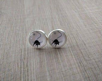 Black Cat 9 earrings pierced