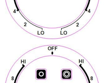 2 Dials X Hi-8-6-4-2 Lo - Lo-2-4-6-8-Hi For an American Style Cooker Top