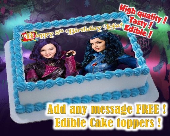 Wicked World (Descendants) cake toppers, edible print ...