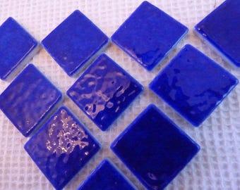 SET OF 6 MOSAIC BRIARE ENAMEL BLUE NAVY