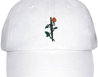 Rose dagger low profile dad hat