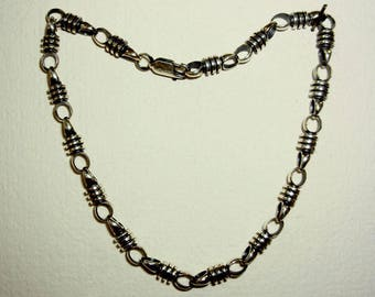 "Chain ""Screw"" of blackened silver"