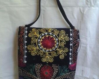 Suzani bag,tote bag,boho bag,vintage suzani bag,uzbek bag