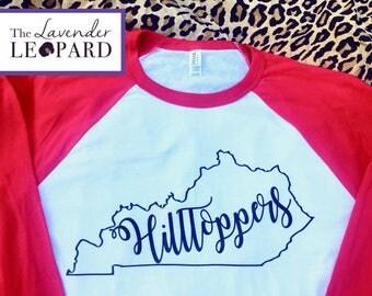 WKU Hilltoppers Shirt, Western Kentucky University, Kentucky Shirt, Hilltoppers TShirt,  Toppers, Bowling Green