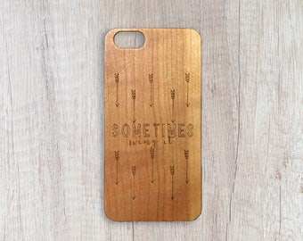 Sometimes Bring It - Personalised Wooden Phone Case
