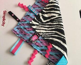 Zebra - pink&purple backing