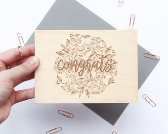 Floral Congrats Card - Card for Mom, Congratulations Card, Floral Card Message, Engagement Card, Graduation Card, Card for Her