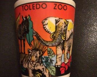 Colorful Vintage Toledo zoo shot glass