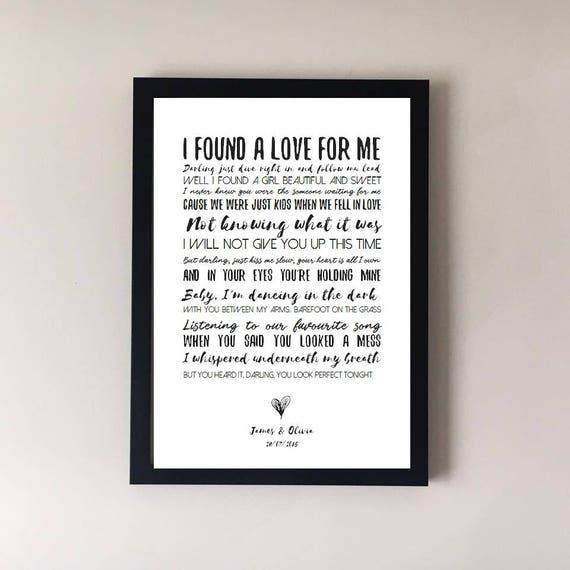 Perfect song lyrics print wedding song song lyrics first like this item stopboris Images