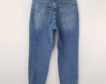 Vintage Levi's 512s Jeans, Highwaisted jeans, Mom Jeans Tapered Leg jeans, Waist size 29//Women's 8 10