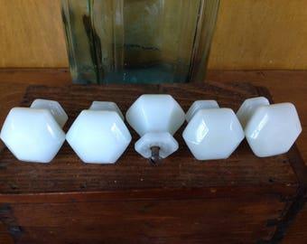 Vintage Milk Glass Knobs