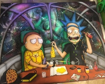 Rick n morty  canvas