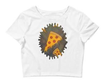 Cosmic Pizza Women's Crop Tee