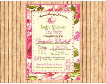 PRINTABLE-Baby Shower Tea Party Invitation