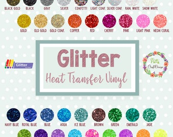 """5-Pack Glitter Heat Transfer Vinyl 10"""" x 12"""" SISER Glitter Heat Transfer Vinyl/Iron-On or Heat Press Vinyl/ HTV"""