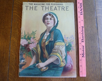 Antique Vintage THE THEATRE Magazine January 1913 - Mary Bolan - Billie Burke 1910s