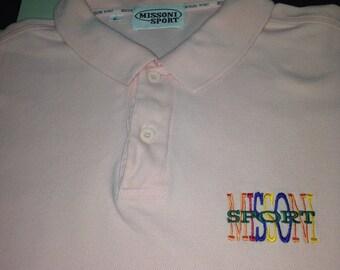 Missoni polo tshirt (embroidery logo )