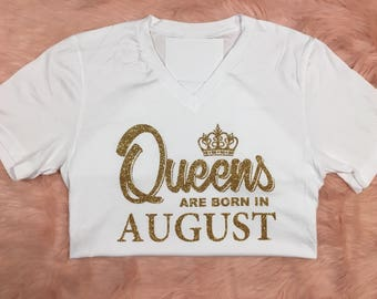Queens are Born In March | April | May | Birthday Shirt | Birthday Queen |