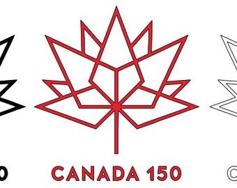 Canada 150 Sticker - Canada 150 Decal - Maple Leaf Decal/Sticker - Canada 150 - Canada Day - Canadian Pride