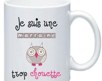 Godmother mug, I'm a great godmother gift baptism personalized #1 _ _