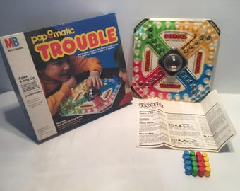 Vintage Popomatic Trouble 1986 Board Game Complete Milton Bradley Great Condition Free Shipping
