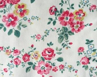 "Cath Kidston Half Yard Cotton Canvas Fabric 56"" Wide_Thorp Flowers_1 DF039"