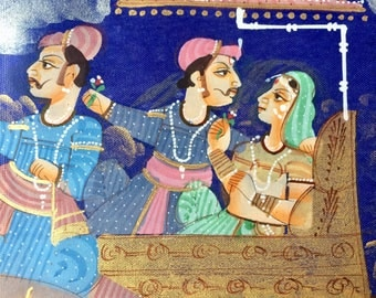 Stunning Indian painting on silk