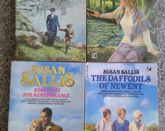 Set Of 4 Vintage Susan Sallis Books About The Rising Family