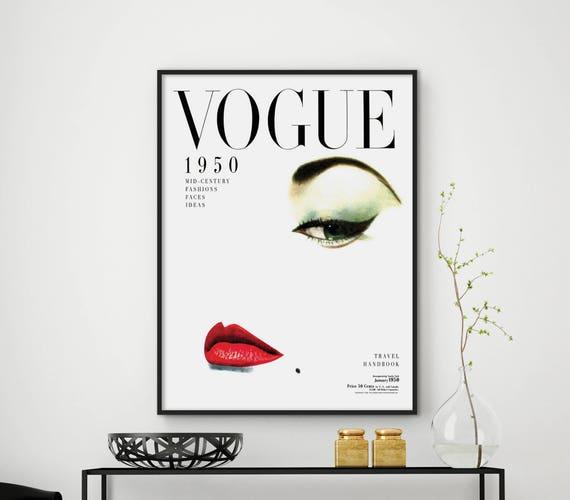 retro poster moderne wand kunst mode vintage vogue cover. Black Bedroom Furniture Sets. Home Design Ideas