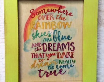 Somewhere Over The Rainbow Art ,  Rainbow Art, Rainbow, Gay Pride Art, Gay Rainbow Art, Wizard Of Oz Rainbow, Gay Pride Art