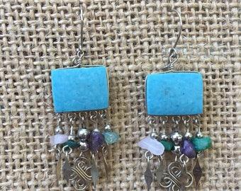 Hand made Turquoise dangle Earrings