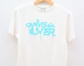 Vintage QUIKSILVER White Tee T Shirt Size M