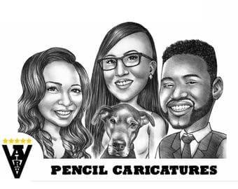 Pencil Caricature, Cartoon from photo
