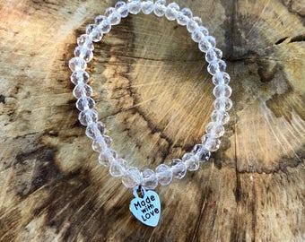 Beaded bracelets, Erimish bracelets, stretch bracelets, stackable bracelets, beaded jewelry, beaded stretch bracelet, clear jewelry