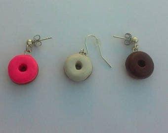 Polymer Clay Donut Earrings