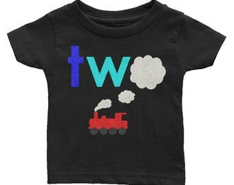 Train Puff, Two Birthday Shirt, Steam Train Birthday, Second Birthday Outfit, royal turquoise red and gray, Steam engine birthday theme