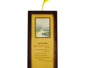Antique Framed Buzza Motto Style Poem By James Whitcomb Riley