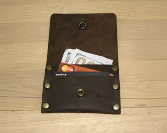 Mens leather wallet, leather wallet, small wallet, credit card wallet, Leather wallet DoshchBeCool#bcc2