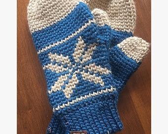 snowflake mittens
