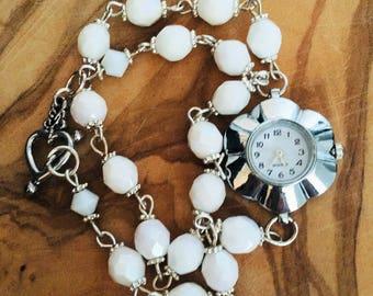 Opal bracelet watch