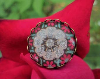 Ring for woman // ring adjustable // fashion ring // ring flower // ring fantasy