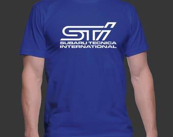 Subaru STI Car T-shirt Adult Unisex T-shirt Wrx Sti Subaru Technica International