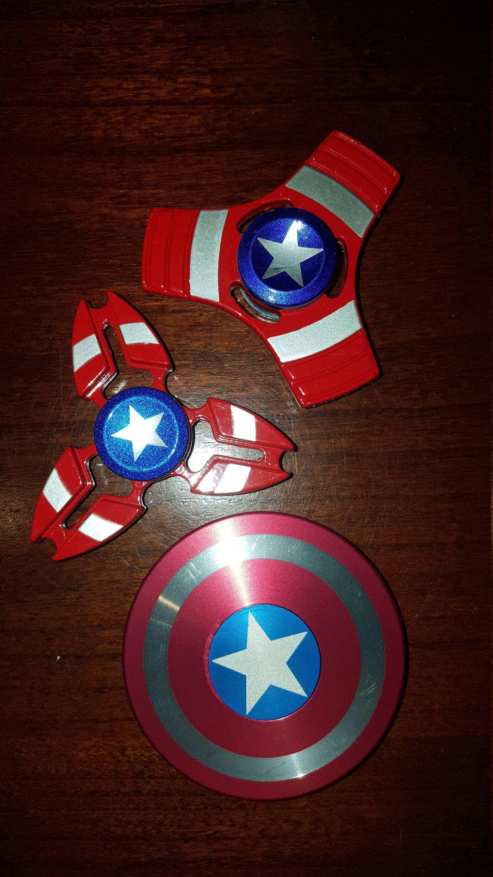 Captain America Fid Spinners