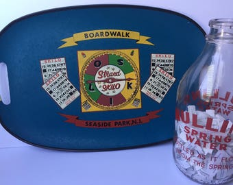 Vintage Serving Tray Boardwalk Seaside New Jersey Skilo