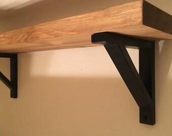 2x10 Wood Shelf with Brackets