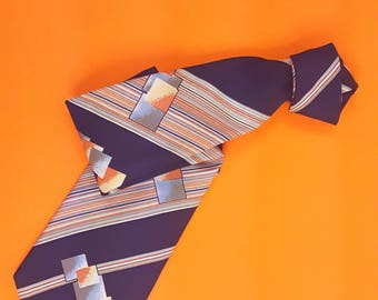 Tie Abstract Neck Tie Vintage 80s 90s Fashion New Wave Preppy