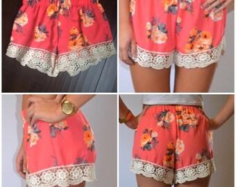 Large Boutique Floral Shorts