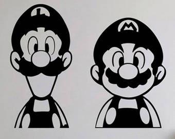 Super Mario Bros Mario and Luigi Vinyl Decal Sticker