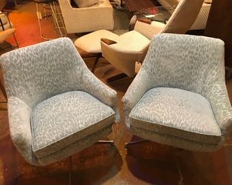 Pair of Mid-Century Modern Bucket Chairs